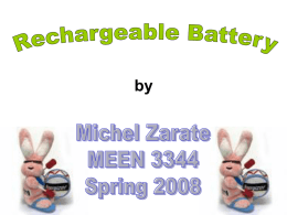 Rechargeable Batteries (Michel Zarate)