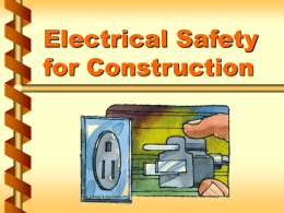 Electrical Safety for Construction