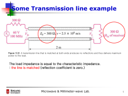 Some Transmission line example