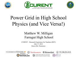 Power Grid in High School Physics