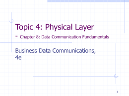 Chapter 8: Data Communication Fundamentals