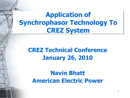 Overview of Synchrophasor Technology and