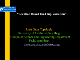 Modeling of On-chip Variation - Computer Science and Engineering