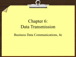 Chapter 6: Data Transmission