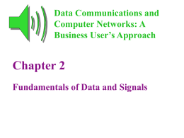 Data Communications and Computer Networks Chapter 2