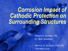 Corrosion Impact of Cathodic Protection on