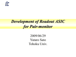Development of Readout ASIC for Pair