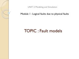 TOPIC : Fault models