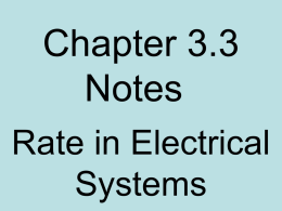 3.3 Electrical Rate Notes