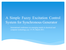 A Simple Fuzzy Excitation Control System for Synchronous Generator
