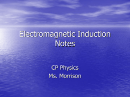 Electromagnetic Induction Notes