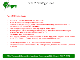 Highlights & main technical directions of SC 00