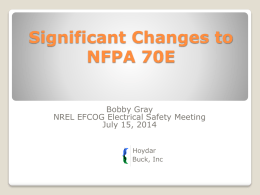 2015 nfpa 70e - EFCOG - Mine Rescue Association