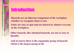 HAZARD RECOGNITION & CONTROL