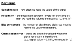 Key terms Sampling rate