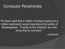 Computer Peripherals - Kevin Fitzgerald.net