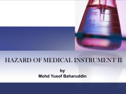 Hazard of Medical Instrument 2