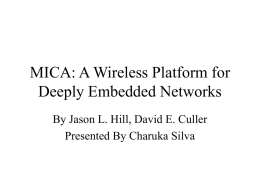 MICA: A Wireless Platform for Deeply Embedded Networks