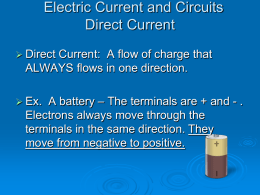 Electric Current and circuits