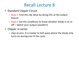 Recall-Lecture 7