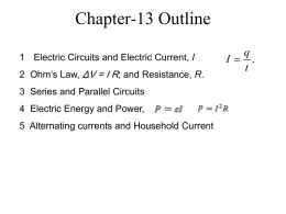 13 Electric Circuits