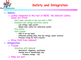 Safety and Integration: Alan Bross