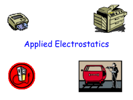 Applied Electrostatics