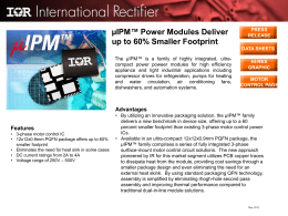 µIPM™ Power Modules Deliver up to 60% Smaller Footprint