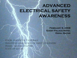 ADVANCED ELECTRICAL SAFETY AWARENESS February 9, 2008