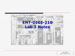 Basic Digital Logic Lab 3 Notes
