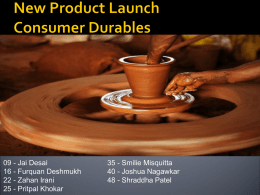 New product Launch Consumer Durables