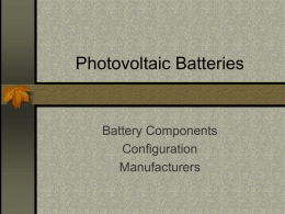 Photovoltaic Batteries