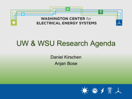 Smart Grid Research: UW and WSU Agenda