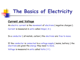 The Basics of Electricity