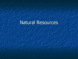 Chapter 2: Renewable and Nonrenewable Resources