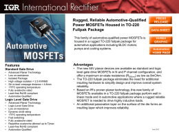 Rugged, Reliable Automotive-Qualified Power MOSFETs Housed in