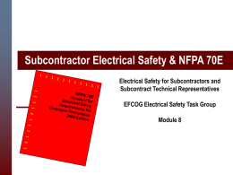 subcontractor electrical safety nfpa 70e