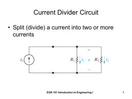 Current Divider Circuit