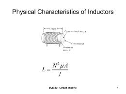 Physical Characteristics of Inductors