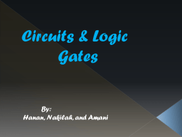 Circuits and Logic Gates