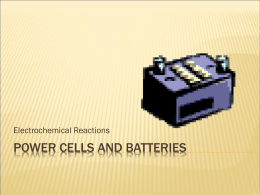 Power Cells & Batteries PPT