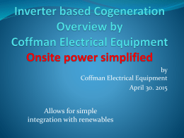 Inverter based Cogeneration Overview by Coffman