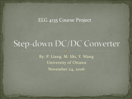 The design of an Step-down DC/DC converter