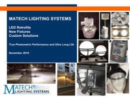 LEDRetro 1st - MaTech Lighting Systems
