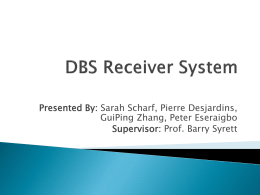 DSB Satellite Receiver System