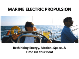 marine electric propulsion
