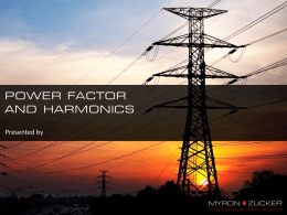 Power Factor Correction and Harmonics