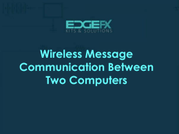 Wireless Message Communication Between Two
