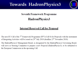FP7 - Hadron Physics 3