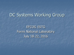 DC Arc Flash Working Group